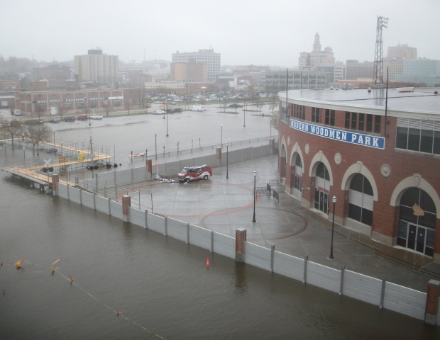 Modern Woodmen Ballpark Floodwall